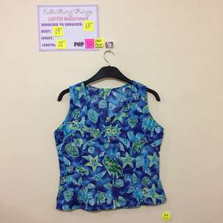 Under the Sea Inspired Sleeveless Top