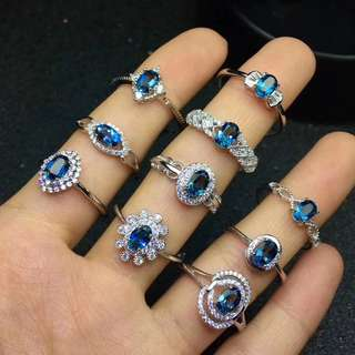 Preorder-Natural London Blue Topaz Ring
