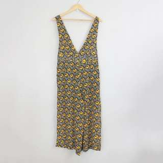 [RESERVED] Korean Style V-Neck Yellow Printed Jumper