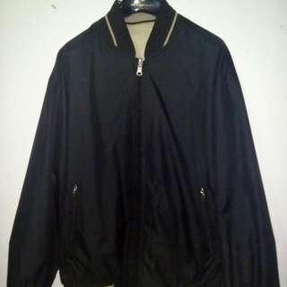 Jacket Bomber VERDE 2 warna (bolak balik) made in italy size M