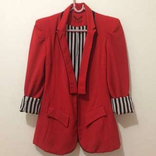 REPRICE! Red long sleeve blazer