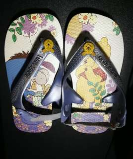 Havainas Babys Disney Winnie The Pooh Flip Flops US9/10C