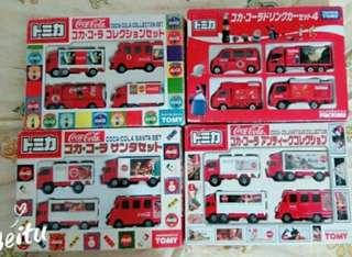 絕版 Tomica Tomy Cola 4 set red box 盒殘舊 不散賣