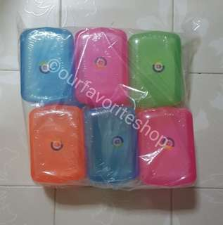 Vintage Retro Plastic Soap Cases x 6
