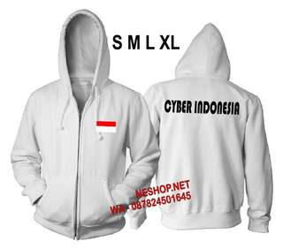 Jaket Cyber Indonesia White And Black