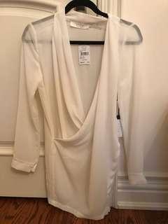 ASTR White Silk Dress