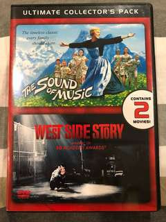 The Sound of Music and West Side Story Movie DVDs