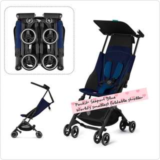 GB Pockit+ Seaport Blue Stroller for rental
