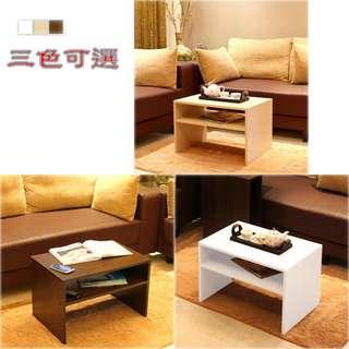 《日式樂庭》兩用茶几桌/邊桌(三色)