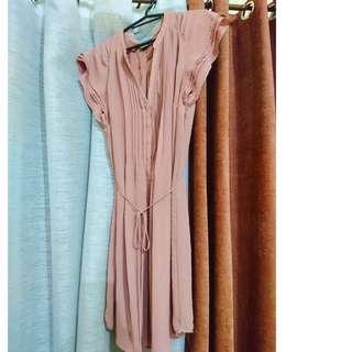 H&M dusty pink dress