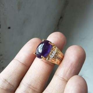 batu cincin antik kecubung size kantoran
