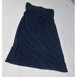 *REPRICED (from Php 160)* Forever 21 Dark Blue Cotton Tube Dress