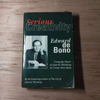 Serious Creativity By Edward De Bono