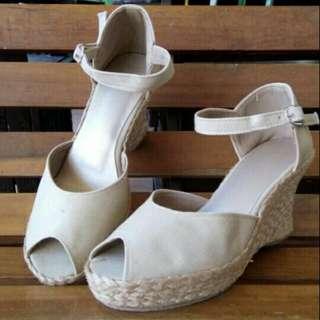 Strap back wedge sandals