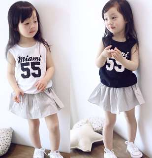 Girls Sleeveless with Skirts