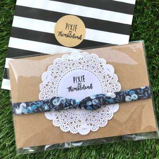 Wiltshire Berry \ Liberty Knotted Bow | Baby Girl Headband | Handmade