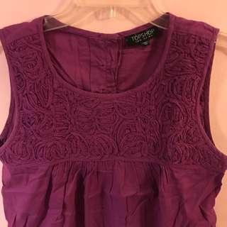 Topshop Purple Top