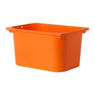 [IKEA] TROFAST Storage box, pink/orange/black/white