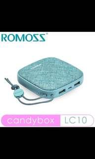 Authentic ROMOSS 10000mAh powerbank candybox