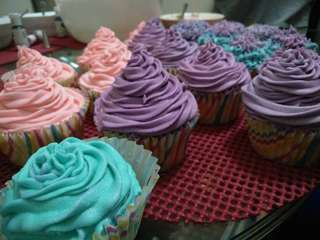 Pastel Colored Cupcakes