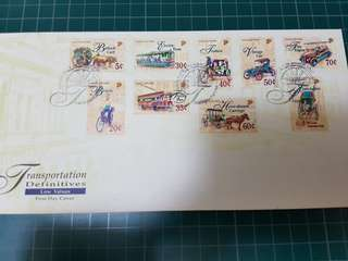 First Day Cover Transportation stamp