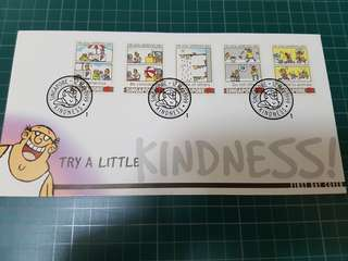 First Day Cover (Try a little Kindness!) stamp