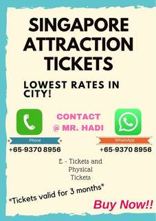 Cheap Singapore Attraction tickets for sale