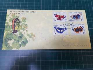 First Day Cover Singapore-Sweden Joint Issue