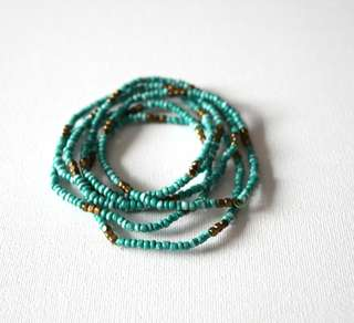Turquoise bracelet stack