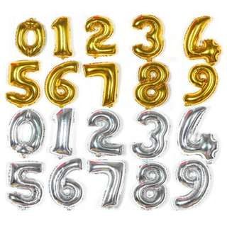 BalloonsHero 30 inch gold silver numbers foil balloons with helium (FREE DELIVERY*)