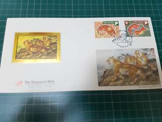 First Day Cover The Singapore mint (Tiger) stamp
