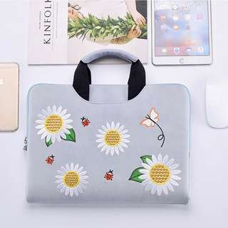 [PO] Flowerish Suede Macbook / Laptop Bag 🌼🌻