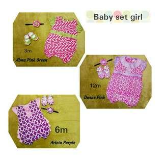 Batik baby set