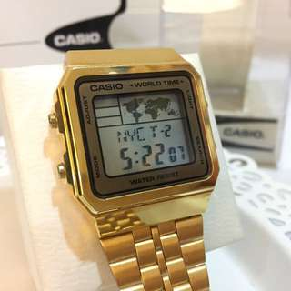 CASIO trendy watch GOLD