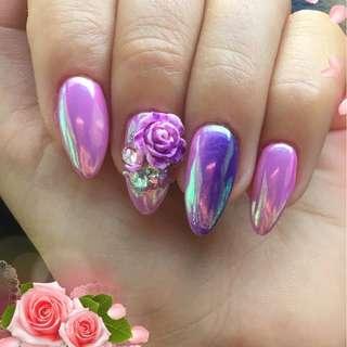 Blueness 1Wheel 49Pcs Colorful Mix 3D Flowers Design Manicure UV Gel Stickers Rhinestones For Nails Art Decorations Accessories