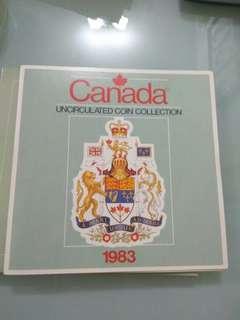 Canada 1983 Unc Coin set