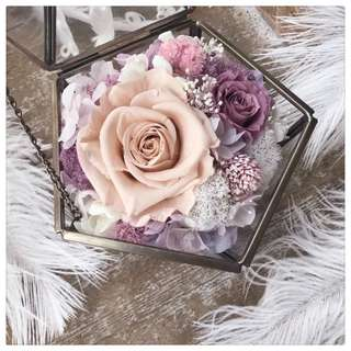 Preserved Flowers Wedding Ring Box