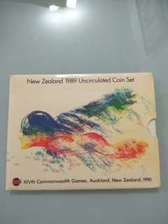 New Zealand 1989 Unc Coin Set