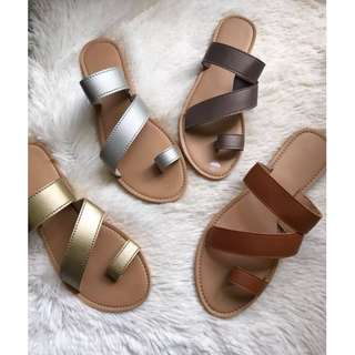 Flats sandals, Comfortable slippers, Made to order, Item code: c1046