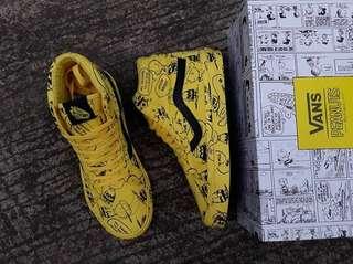 Sepatu Vans SK8 HI Rissue x Peanut Charlie Brown Premium BNIB