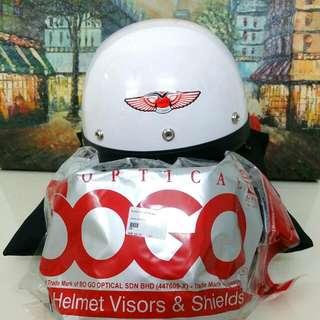 MHR III Apr Standard Classic White Putih Half Cap Helmet Motorcycle Motorsikal Handa Suzuki Kawasaki Vespa Modernas
