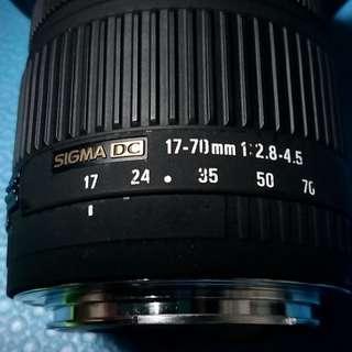 SIGMA DC 17-70mm 1:2.8-4.5 (CANON EF-EFS)