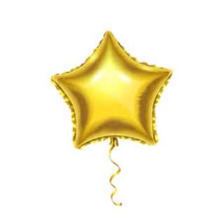 BalloonHero party foil metallic gold star balloons with helium (FREE DELIVERY*)