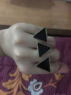 Black triangular ring