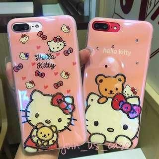 Hello kitty 亮光面手機殻(6/6s/6+/6s+/7/7+/8/8+/X)