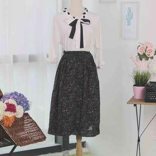 🍿 Vintage Midi Skirt VS1095