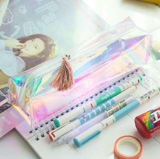 Holographic Laser Pencil Bag/Makeup Bag