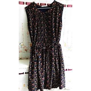 Spring summer printed dress from Korea