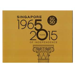 2015 Singapore Golden Jubilee National Pledge Collector Sheet Folder