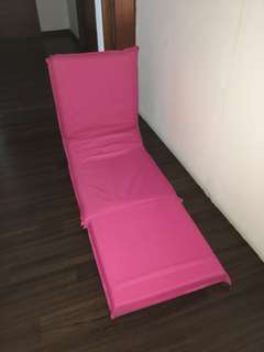 3 in 1 foldable sofa in pink